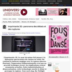 Imprimante 3D : panorama des débats et des ruptures