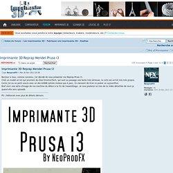 Imprimante 3D Reprap Mendel Prusa i3 : RepRap