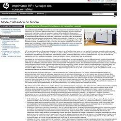 ImprimanteHP: Mode d'utilisation de l'encre