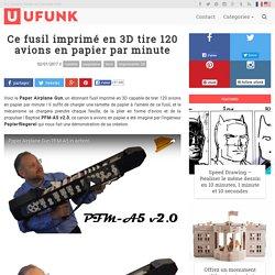 Ce fusil imprimé en 3D tire 120 avions en papier par minute