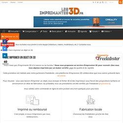 Faire imprimer un objet en 3D par les makers certifiés de FreeLabster
