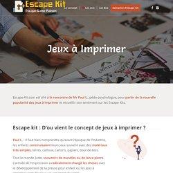 Jeux à Imprimer - Concept Innovant - Escape Game DIY