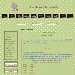 Fiches imprimer - Jeu de 7 familles - Jeux et Cartes - Cartable.net - A imprimer ... - Fiches exercices, - Fiches exercices, - Fiches Lecture - Ecriture GS/CP - L' cole pour les parents