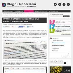 Imprimer une page web sans les images et la publicité : Print Friendly & PDF