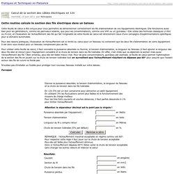 Imprimer : Calcul de la section des câbles électriques en 12V