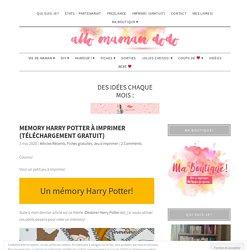 Memory Harry Potter à imprimer (Téléchargement gratuit)