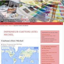 Imprimerie Ciattoni (Ste) Michel: votre imprimeur paris 15 75015