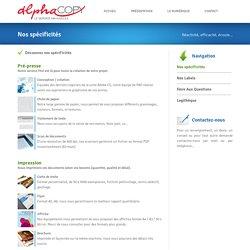 Alpha Copy - Imprimerie numérique - Reprographie - Création à Rouen 76