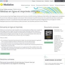 Médias en ligne et imprimés intégrés