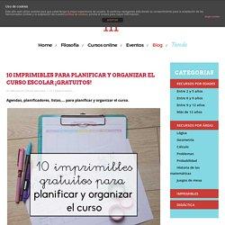 10 imprimibles para planificar y organizar el curso escolar ¡gratuitos!