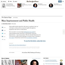 Mass Imprisonment and Public Health
