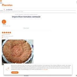 Impro thon-tomates-semoule : Recette de Impro thon-tomates-semoule