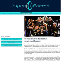 IMPROFORMA - Formation impro - L'outil pédagogique