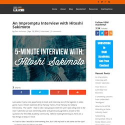An Impromptu Interview with Hitoshi Sakimoto - Video Game Music Academy