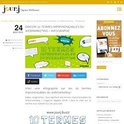 Dircom, 10 termes imprononçables du Webmarketing - Infographie - Agence de communication Grenoble JOUR J