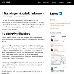 11 Tips to Improve AngularJS Performance