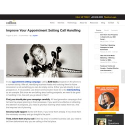 Improve Your Appointment Setting Call Handling