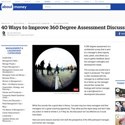40 Ways to Improve 360 Degree Assessment Discussions