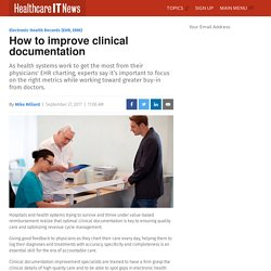 How to improve clinical documentation