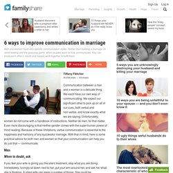 6 ways to improve communication in marriage