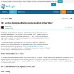 Why and How to Improve the Communication Skills of Your Child?
