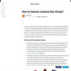 How to improve company flyer design?