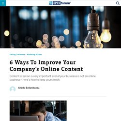 6 Ways To Improve Your Company's Online Content