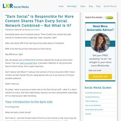 "Improve Your Content Sharing with the Power of ""Dark Social"""