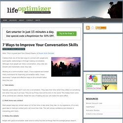How to Improve Conversation Skills - 7 Ways