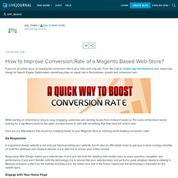 How to Improve Conversion Rate of a Magento Based Web-Store?: app_maker