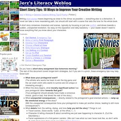 Short Stories: 10 Tips for Novice Creative Writers (Kennedy and Jerz)