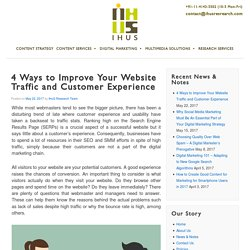 4 Ways to Improve Your Website Traffic and Customer Experience