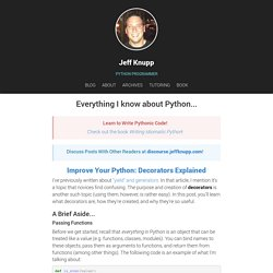Improve Your Python: Decorators Explained