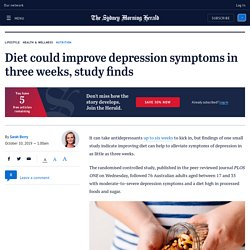 Diet could improve depression symptoms in three weeks, study finds