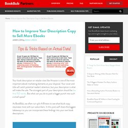 How to Improve Your Description Copy to Sell More Ebooks
