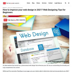 How to improve your web design in 2021? Web Designing Tips for Beginners