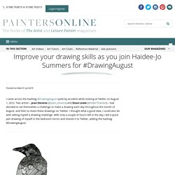 Improve your drawing skills as you join Haidee-Jo Summers for #DrawingAugust