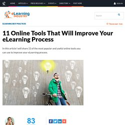 11 Online Tools That Will Improve Your eLearning Process