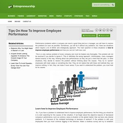 Improving Employee Performamce With Ease