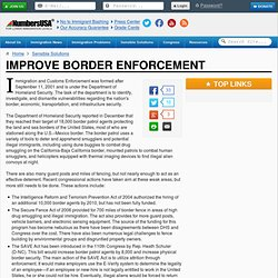 Improve Border Enforcement