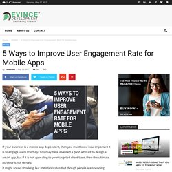 5 Ways to Improve User Engagement Rate for Mobile Apps