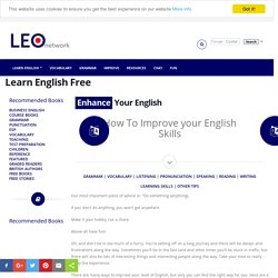 How to improve your English skills - Learn English Free