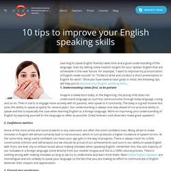 10 tips to improve your English speaking skills