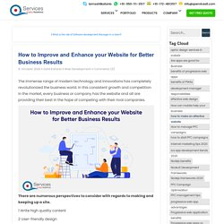 How to Improve and Enhance your Website for Better Business Results