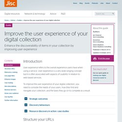 Improve the user experience of your digital collection