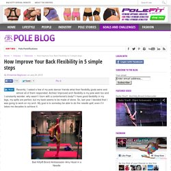 How Improve Your Back Flexibility in 5 simple steps