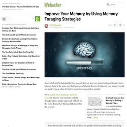 Improve Your Memory by Using Memory Foraging Strategies