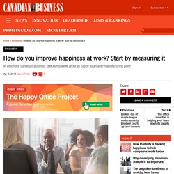 How do you improve happiness at work? Start by measuring it
