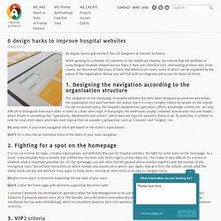6 design hacks to improve UX of healthcare website