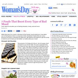 Foods to Improve Moods - Healthy Living Tips at WomansDay.com - StumbleUpon